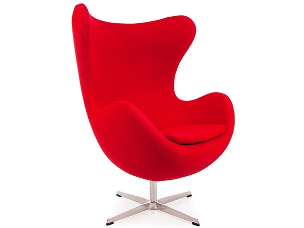 Egg Sessel Arne Jacobsen - Rot