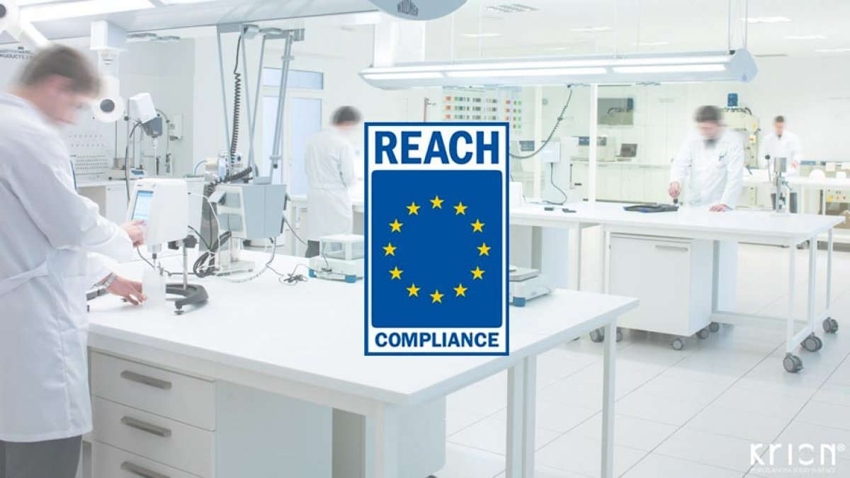 KRION® Solid Surface complies with the REACH regulation of chemicals